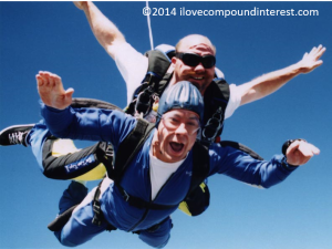 skydiving, ilovecompoundinterest.com, i love compound interest, financial freedom, early retirement
